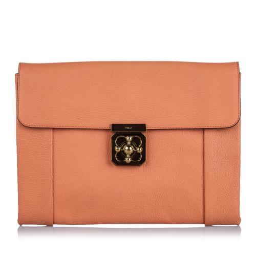 Chloe Leather Elsie Clutch