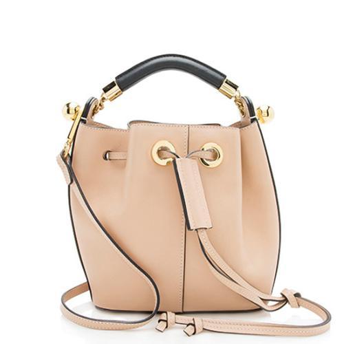 Chloe Leather Gala Small Bucket Bag