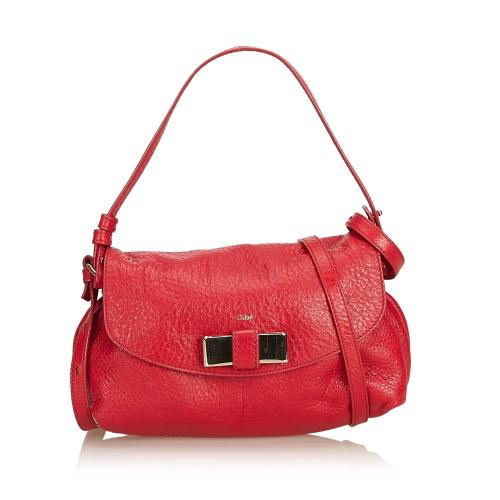 Chloe Leather Lily Bow Satchel