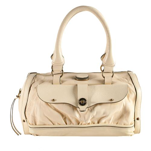 Chloe Leather Maggie Zipped Satchel Handbag