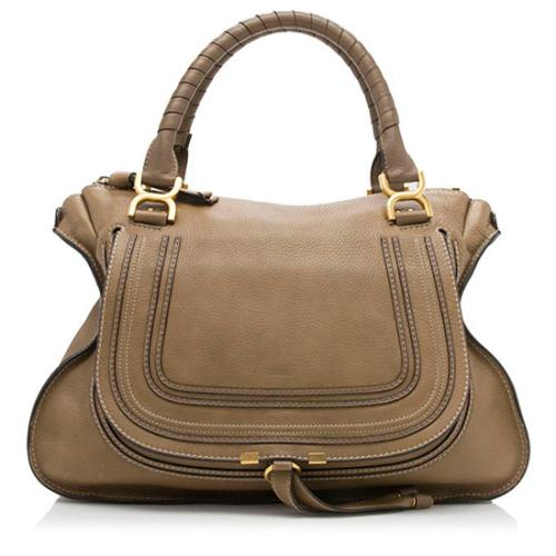 Chloe Leather Marcie Large Satchel