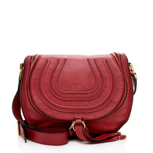 Chloe Leather Marcie Zip Medium Crossbody Bag