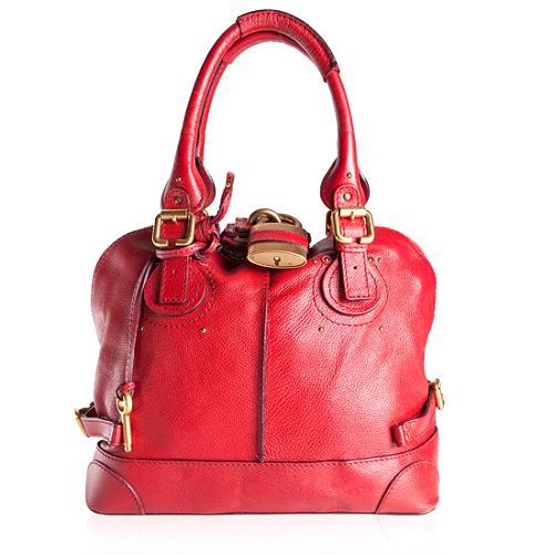 Chloe Leather Paddington Bowler Handbag