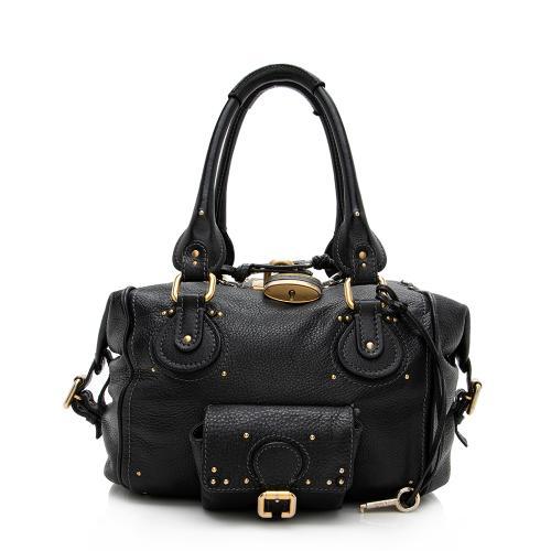 Chloe Leather Paddington Front Pocket Satchel