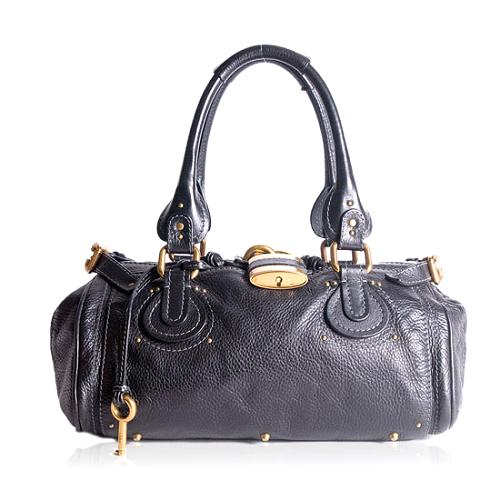 Chloe Leather Paddington Medium Satchel Handbag