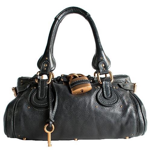 Chloe Leather Paddington Medium Satchel Handbag