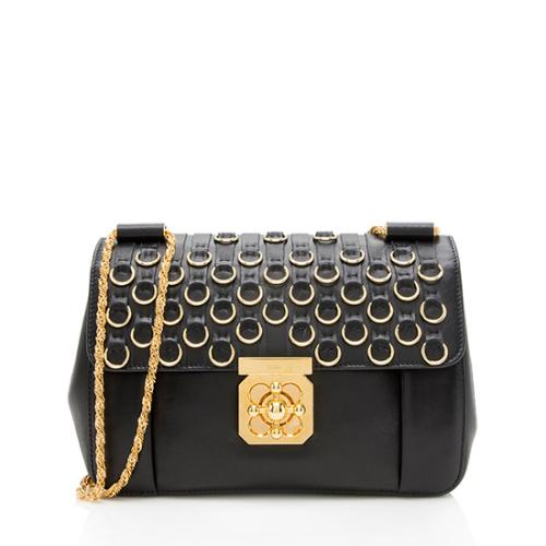 Chloe Leather Rings Elsie Chain Shoulder Bag