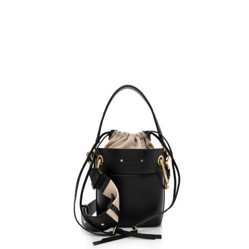Chloe Leather Roy Mini Bucket Bag