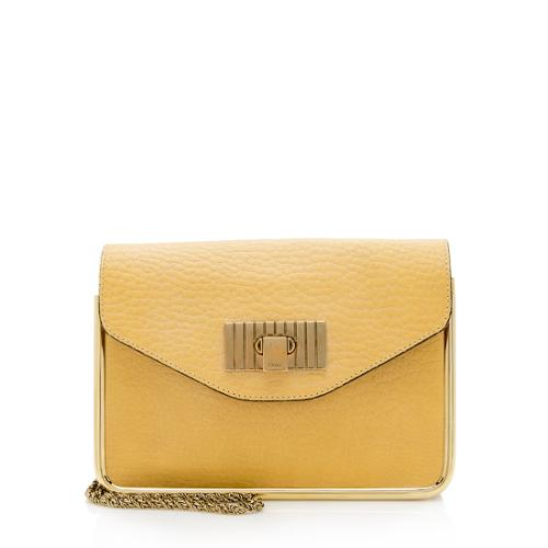 Chloe Leather Sally Framed Small Shoulder Bag