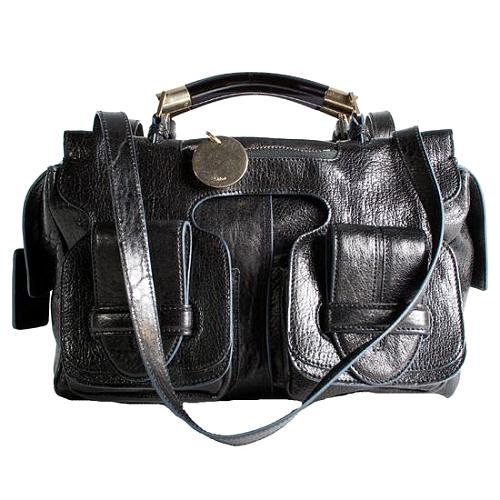 Chloe Leather Saskia Satchel Handbag