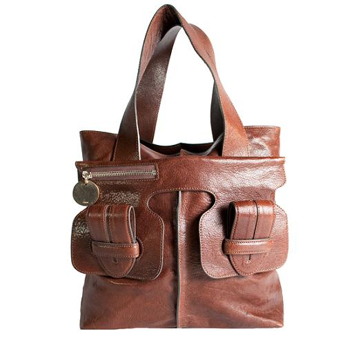 Chloe Leather Saskia Satchel Handbag
