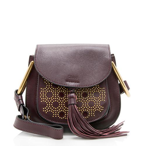 Chloe Leather Studded Hudson Mini Shoulder Bag