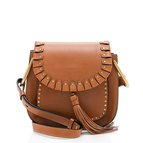 Chloe Leather Studded Hudson Shoulder Bag
