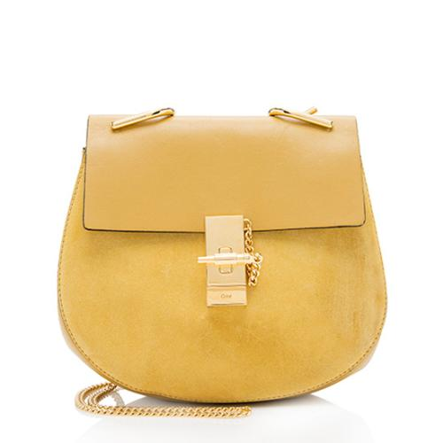 Chloe Leather Suede Drew Small Shoulder Bag