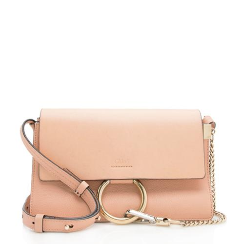 Chloe Leather Suede Faye Wallet On Chain Bag