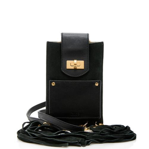 Chloe Leather Suede Jane Bracelet Bag