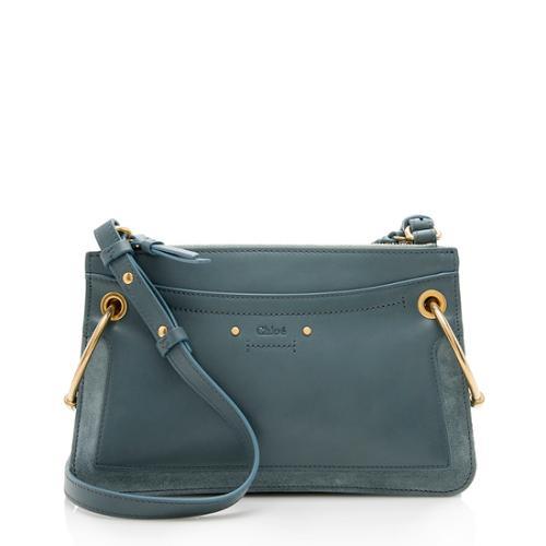 Chloe Leather Suede Roy Mini Shoulder Bag