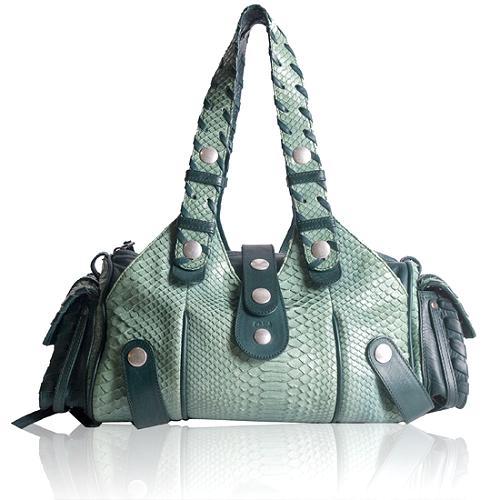 Chloe Limited Edition Silverado Python Shoulder Handbag