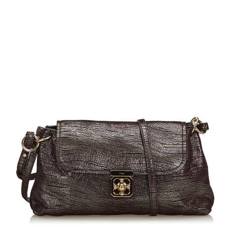 Chloe Metallic Leather Elsie Shoulder Bag