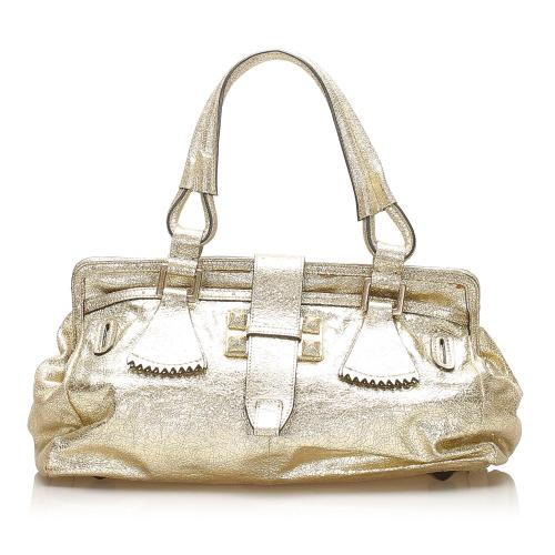 Chloe Metallic Leather Handbag
