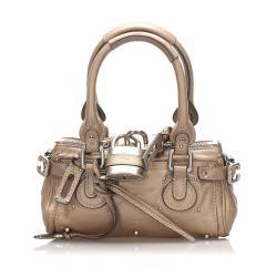 Chloe Metallic Leather Paddington Satchel