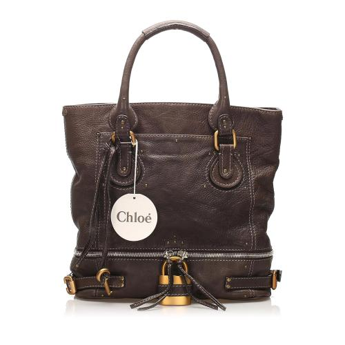 Chloe Paddington Leather Tote Bag