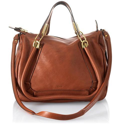 Chloe` Paraty New Square Satchel Handbag