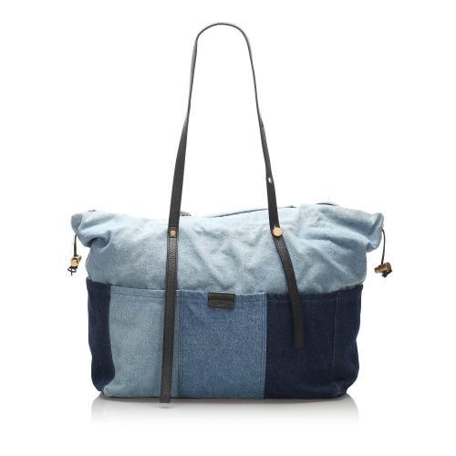 Chloe Patchwork Denim Tote Bag