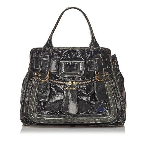 Chloe Patent Leather Bay Satchel