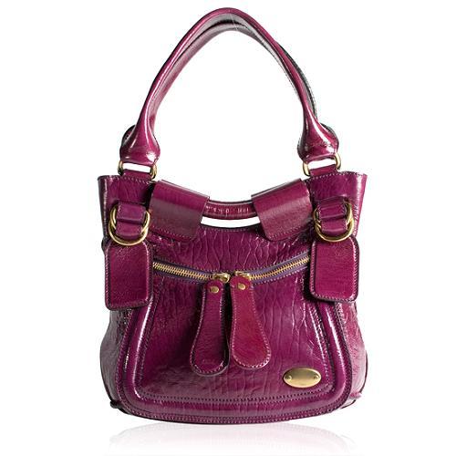 Chloe Patent Leather Bay Hobo Handbag