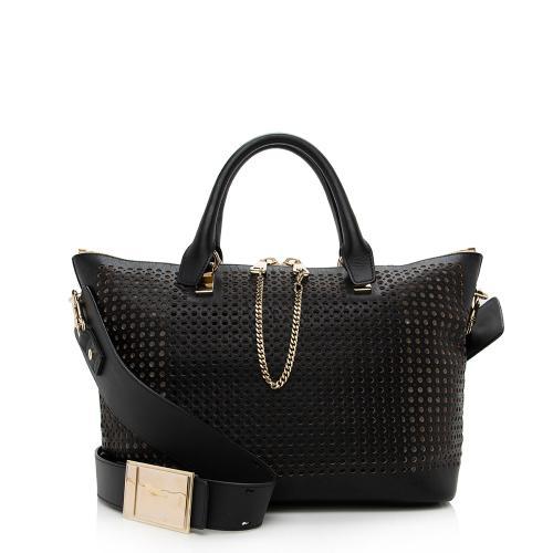 Chloe Perforated Leather Baylee Medium Shoulder Bag