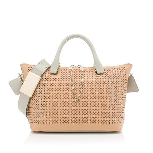 Chloe Perforated Leather Baylee Medium Shoulder Bag - FINAL SALE