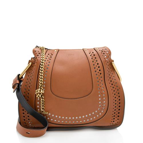 Chloe Perforated Leather Hayley Small Shoulder Bag