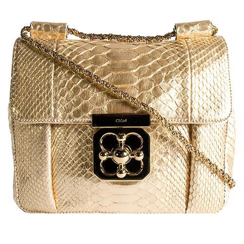 Chloe Python Elsie Small Evening Shoulder Handbag
