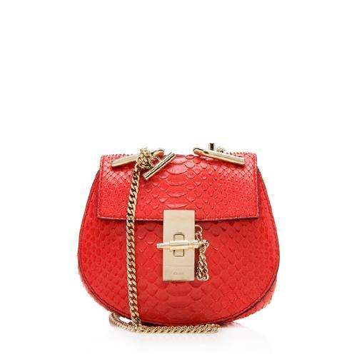Chloe Python Nano Drew Shoulder Bag