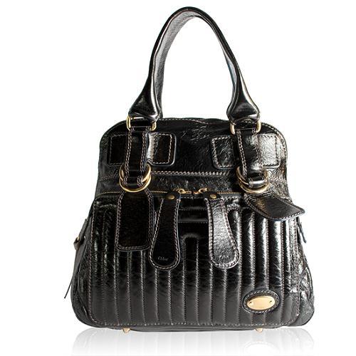 Chloe Quilted Bay Satchel Handbag
