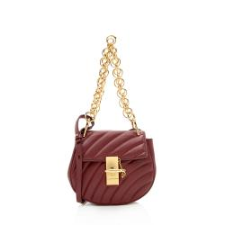 Chloe Quilted Calfskin Drew Bijou Chain Mini Shoulder Bag