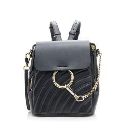 Chloe Quilted Calfskin Faye Small Backpack