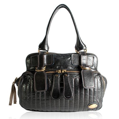 Chloe Quilted Leather Bay Medium Handbag
