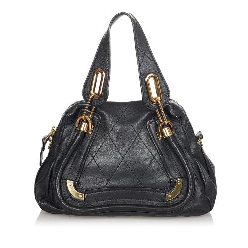 Chloe Quilted Paraty Leather Handbag