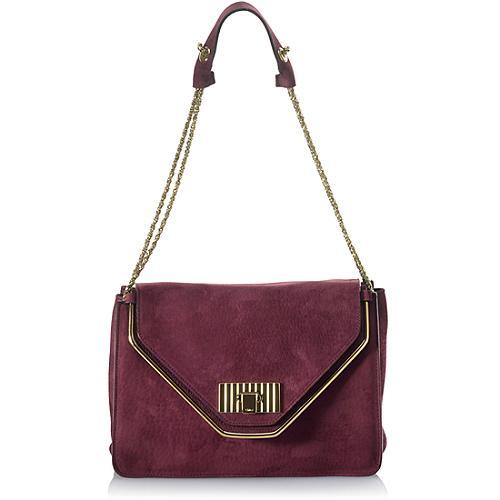 Chloe` Sally Soft Nubuck Shoulder Evening Handbag