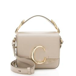 Chloe Shiny Calfskin C Mini Shoulder Bag