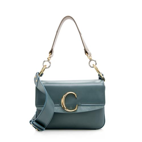 Chloe Shiny Calfskin Small C Shoulder Bag