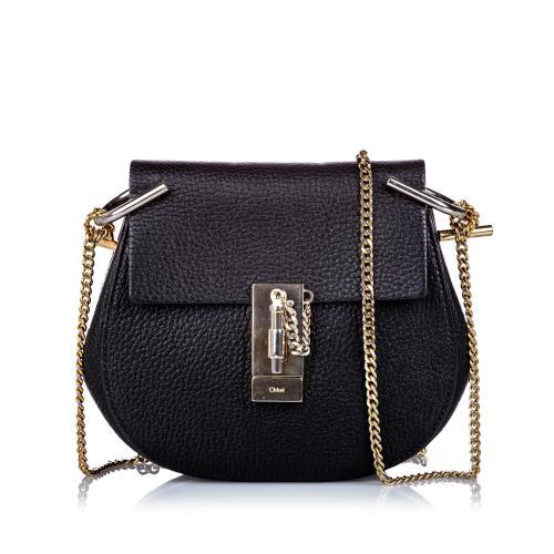 Chloe Small Grained Leather Drew Crossbody Bag