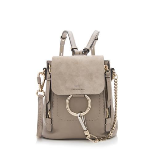 Chloe Suede Calfskin Mini Faye Backpack