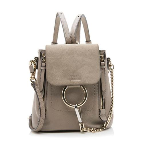 Chloe Suede Calfskin Mini Faye Backpack
