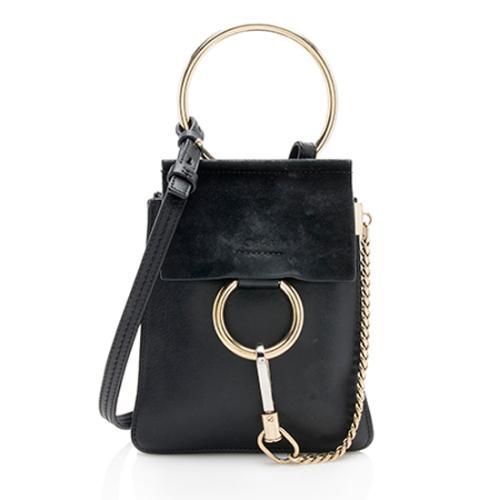 Chloe Suede Calfskin Small Faye Bracelet Bag