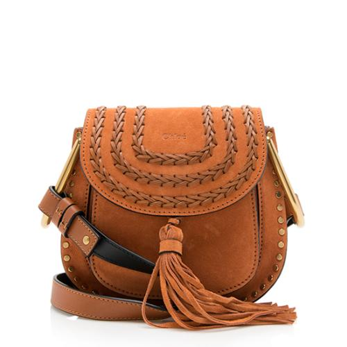 Chloe Suede Hudson Mini Shoulder Bag