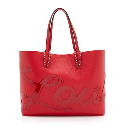 Christian Louboutin Leather Cabata Logo Tote