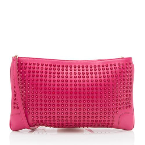 Christian Louboutin Leather Studded Loubiposh Clutch - FINAL SALE